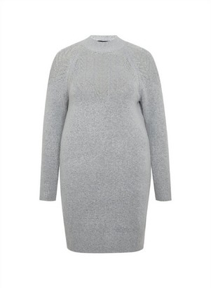 Dorothy Perkins Womens Dp Curve Grey Knitted Tunic, Grey