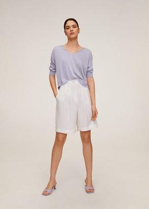 MANGO Textured fine-knit sweater light/pastel purple - XS - Women