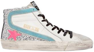 Golden Goose Slide Glitter High-Top Sneakers
