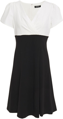 DKNY Two-tone Stretch-crepe Dress
