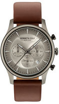 Kenneth Cole Dress Sport Leather Strap Watch