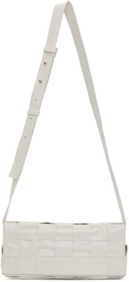 Bottega Veneta White Intrecciato Cassette Bag