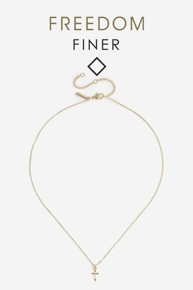 Topshop Freedom Finer Cross Necklace