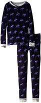 Hatley Graphic Moose Henley PJ Set (Toddler/Little Kids/Big Kids)