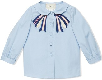 Gucci Kids Baby Cotton Shirt With Bow