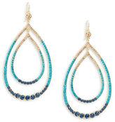 Trina Turk Crystal Pave Double Teardrop Earrings