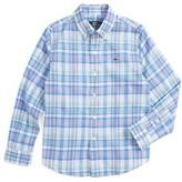 Vineyard Vines Toddler Boy's Brightwaters Plaid Woven Shirt