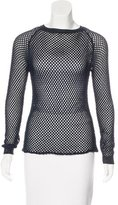 Anthony Vaccarello Open-Knit Long Sleeve Sweater