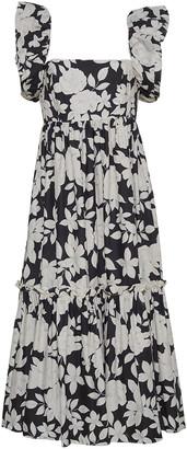 Cara Cara Darby Smocked Cotton-Poplin Midi Dress