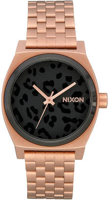 Nixon Women Medium Time Teller Stainless Steel Bracelet Watch 31mm