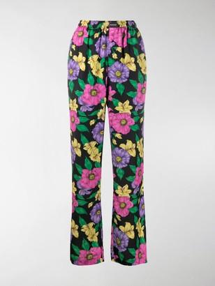 Balenciaga Lush floral print track pants