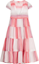 Lemlem Banu Striped Cotton-gauze Dress - Antique rose