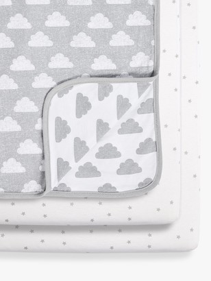 Snüz Snuz Cloud Crib Fitted Sheet and Blanket 3 Piece Set