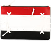 Givenchy tri-colour woven clutch - women - Calf Leather - One Size