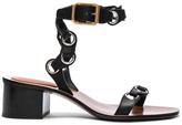 Chloé Leather Miller Sandals in Black.