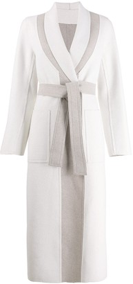 Lorena Antoniazzi two tone belted coat