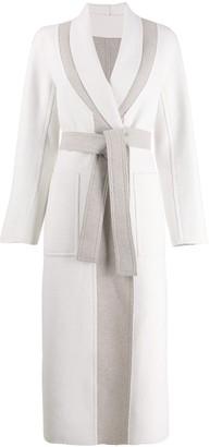 Lorena Antoniazzi Two Tone Belted Coat