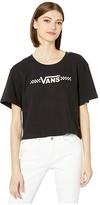 Vans Shine It Bell Crop Tee (Black) Women's Clothing