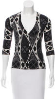 Tory Burch Printed Button-Up Cardigan