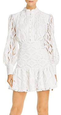 Bardot Remy Balloon-Sleeve Lace Dress