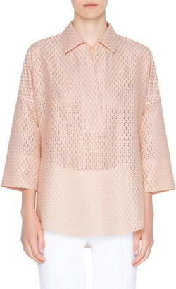 Akris Punto Dot Lace Tunic Blouse