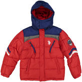 U.S. Polo Assn. Winning Red & Blue Chevron Puffer Coat - Boys