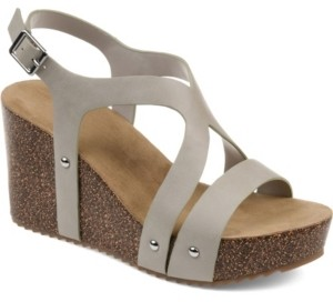 Journee Collection Women's Geneva Wedge Sandals Women's Shoes