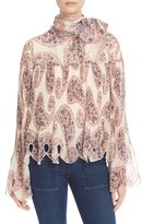 See by Chloe Women's Floral Embellished Georgette Blouse
