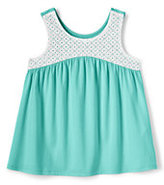 Lands' End Little Girls Flowing Knit Tank-Rich Sapphire