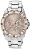 Vince Camuto Women's Silvertone Dial Multifunction Bracelet Watch Embellished with Crystals from Swarovski