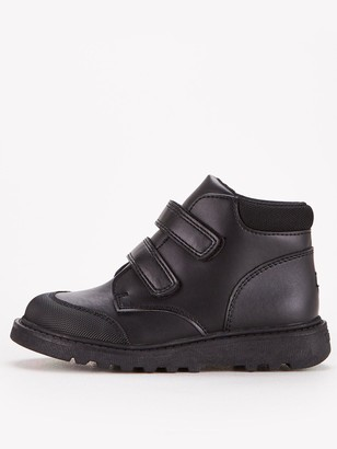 Very ToeZone atV by VeryBoys Twin Strap LeatherBoot - Black