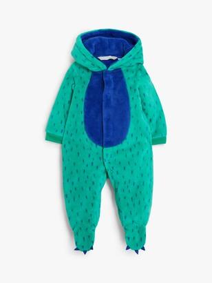 John Lewis & Partners Baby Monster Fleece Onesie, Green