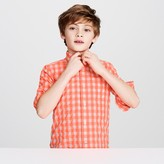 J.Crew Kids' Secret Wash shirt in neon gingham