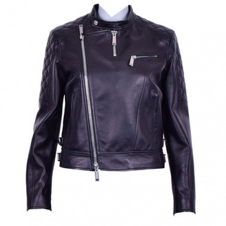 DSQUARED2 Black Leather Jackets