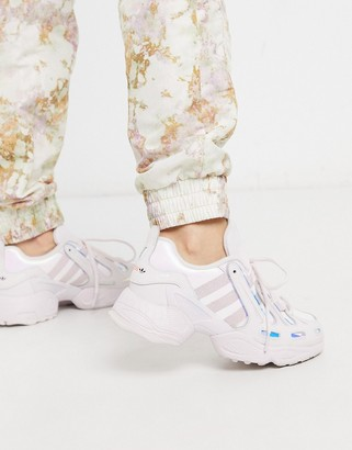 adidas EQT Gazelle sneakers in metallic pink and silver