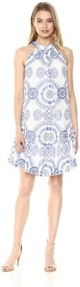 Trina Turk Trina Women's Kori Halter Drop Flounce Midi Dress