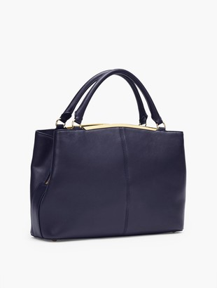 Talbots Croc-Embossed Nappa Leather Tote
