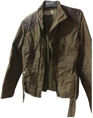 Karen Millen Khaki Faux fur Jacket for Women
