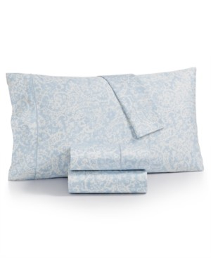 Charter Club Sleep Luxe Cotton 800-Thread Count 4-Pc. Printed King Sheet Set, Created for Macy's Bedding
