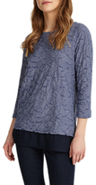 Phase Eight Trudy Textured Top, Blue/White