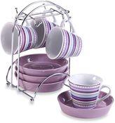 Imusa Espresso Set in Purple Stripe (Set of 4)