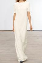 Derek Lam Cape-effect silk-georgette column gown