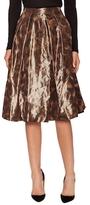 Pink Tartan Leopard Taffeta Midi Tabitha Skirt
