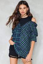 Nasty Gal nastygal Split the Difference Tartan Top
