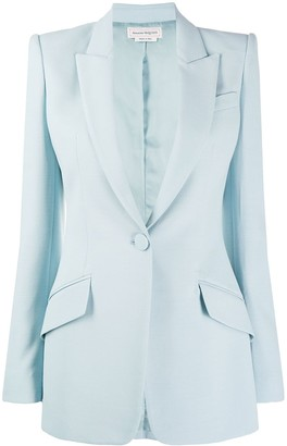 Alexander McQueen Single-Button Structured Style Blazer