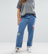 Alice & You Embroidered Heart Badge Denim Jean