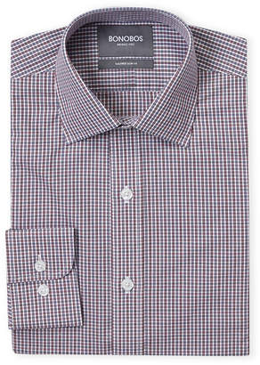 Bonobos Burgundy Wright Check Tailored Fit Dress Shirt