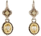 Judith Ripka Canary Crystal & Diamond Drop Earrings