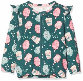 Name It Baby Girls' Nmfrifa Sweat Card Bru Jacket