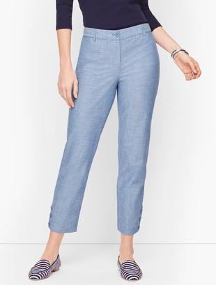 Talbots Perfect Crop Pants - Curvy Fit - Chambray